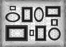 Frames on ornamental grunge background Stock Images