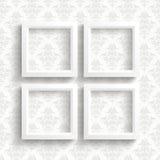 4 Frames Ornaments Wallpaper Stock Image