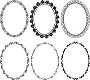 Frames oval. Silhouette oval frames -  illustration Stock Photo