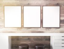 Frames over table Royalty Free Stock Photos