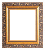 Empty gold museum frames Royalty Free Stock Image