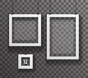 Frames Paper Big Little Realistic Text Poster Icon Set Template  Royalty Free Stock Photography