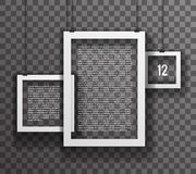 Frames Paper Big Little Realistic Text Poster Icon Set Template Stock Photos