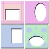 Frames Pastel da foto colorida Imagens de Stock