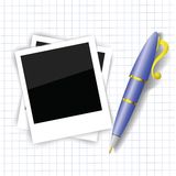 Frames and pen Stock Image