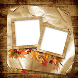 Frames for the photo on vintage background Stock Photo