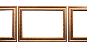 Frames for picture from baguette on white Royalty Free Stock Photography