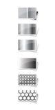 Frames preto e branco Fotografia de Stock Royalty Free