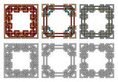 Frames quadrados Fotos de Stock Royalty Free