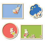 Frames with rabbits Stock Images