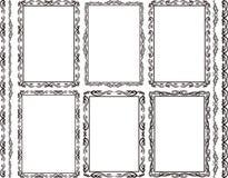 Frames rectangular. Set of rectangular frames and borders stock illustration