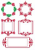 Frames red Royalty Free Stock Images