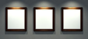 Frames retro, 3d render Royalty Free Stock Photo