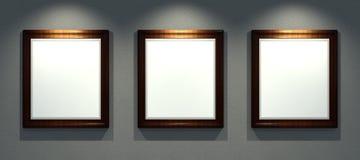 Frames retro, 3d render Royalty Free Stock Photo