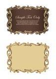 Frames retros Imagens de Stock Royalty Free