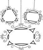 Frames retros da forma do Doodle ilustração royalty free
