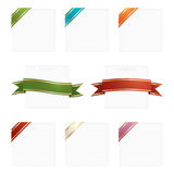 Frames with ribbons Stock Photo