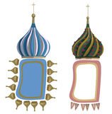 Frames with Russian Domes Stock Photo