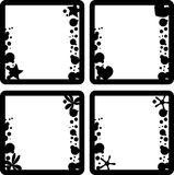 Frames set. Four squared frames with conceptual elements Royalty Free Stock Photo