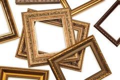 Frames set. Antique frames on white background Royalty Free Stock Photos