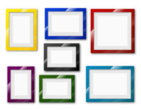 Frames set. Different sizes and A4, B4, C4 proportion colored with thick borders. Vector Illustration set Royalty Free Stock Photography