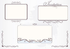 Frames set Royalty Free Stock Photo