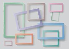 Frames set. Torn paper edges Frames vector template set. Design, business brochure layout, frame modern design, business card, envelope, poster, vintage paper Royalty Free Stock Image