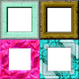 Frames. Set of frames with place for your picture Royalty Free Stock Photography