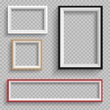 Frames set on transparent background Royalty Free Stock Photos