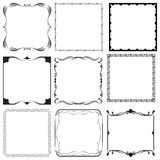 Frames Set Vector. Decorative Frames and Borders Set Vector Royalty Free Stock Images