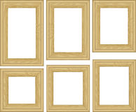 Frames. Set of wooden frames - vector illustration Stock Photography