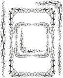 Frames silhouette. Vector frames corners and ornaments plant Royalty Free Stock Photo