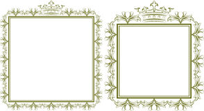 Frames. Silhouette of royal frames - vector illustration Royalty Free Stock Photos