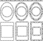 Frames. Silhouettes of decorative frames - vector illustration Stock Image