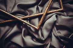 Frames and silk drapery Royalty Free Stock Photography
