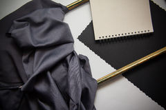 Frames and silk drapery. Art frames background for graphic design Stock Images