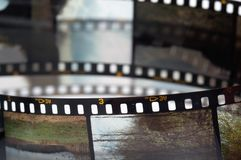 Frames of the slide film stock image