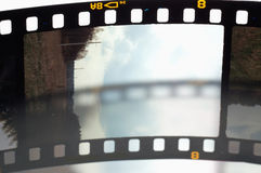 Frames of the slide film Royalty Free Stock Image