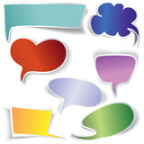 Frames and Speech bubbles collection Stock Photography