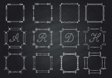 Frames for text hand-drawn. monogram Royalty Free Stock Photography