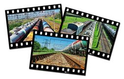 Frames  train Stock Image
