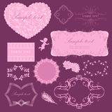 Frames for Valentine day Stock Images