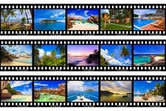 Frames van film - aard en reis (mijn foto's) Stock Afbeeldingen