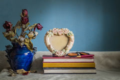 Frames and vases in the works. Royalty Free Stock Photo