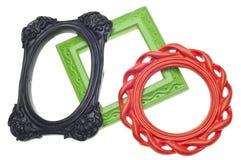 Frames vazios coloridos vibrantes modernos Imagem de Stock