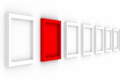 Frames vazios da fileira no fundo branco ilustração stock