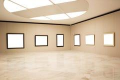 Frames vazios na parede Fotografia de Stock