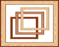 Frames. Vector illustration. Wooden frames . Vector illustration Stock Photos