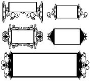 Frames vector set. Set of black and white vintage decorative frames Stock Images