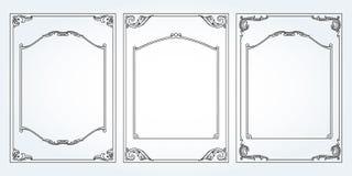 Vertical frames and borders set vector decorativ Royalty Free Stock Photos